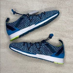 UNDER ARMOUR Blue Bungee Pull Sneakers